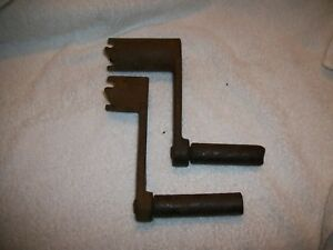 Lot 2 Old Antique Gas Engine Starter Crank Handles Hit And Miss Steampunk etc