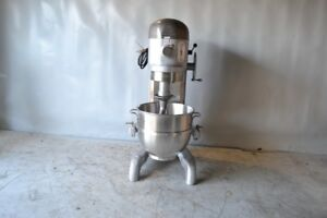 Used Hobart H 600 60 Qt Commercial Mixer new Stainlesssteel Bowl Free Shipping