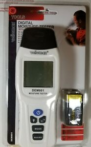 Velleman Dem801 Digital Moisture Tester With Thermometer