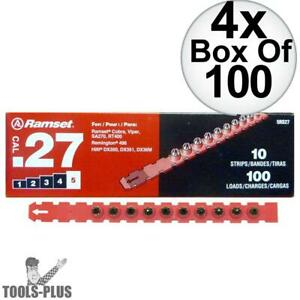 Ramset 5rs27 Box Of 100 5 red 27 Cal Strip Loads 4x New