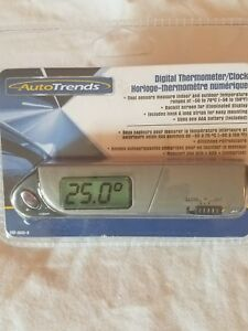 Autotrends Automotive Indoor Outdoor Digital Thermometer Clock