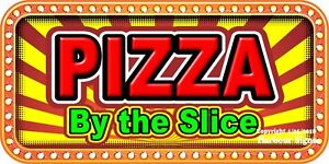 choose Your Size Pizza By The Slice Decal Concession Food Truck Vinyl Sticker
