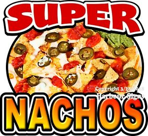 Super Nachos Decal choose Your Size Chips Cheese Food Concession Sticker