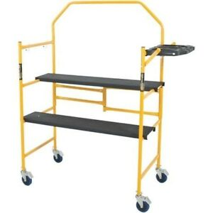 Mini Rolling Scaffold 500 Lb Load Capacity Work Bench