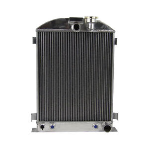 3 Row Radiator For 1930 1938 1937 1936 Ford Model A Chevy Engine Grille Shells