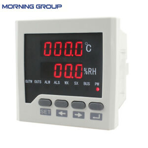 Wsk302 72 72mm Temperature And Humidity Controller With Sensor Industrial Use