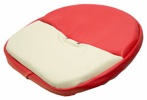 Economy Hm Tie On Cover For Case Tractors With Hm Seats Red And White Vinyl
