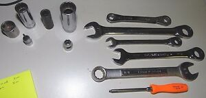 Lot Of 12 Tools Snap On Matco Cornwell Gearwrench Craftsman Wreches Sockets Torx