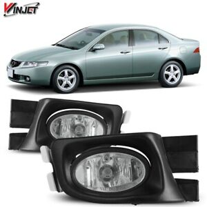 Fit 2003 2005 Honda Accord Oe Style Factory Fog Light Clear Lens With Wiring Kit