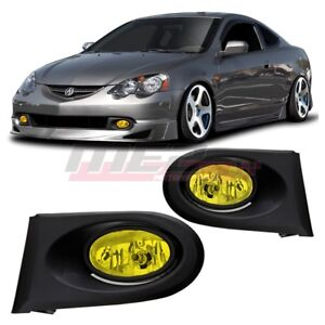 For 2002 2004 Acura Rsx Winjet Oe Factory Fit Fog Light Bumper Kit Yellow Lens