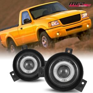For 01 03 Ford Ranger Winjet Oe Factory Fit Fog Light Halo Projector Clear Lens
