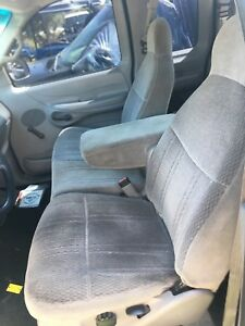 Light Gray Bucket Seats Arm Rest Center Console Jump 97 03 Ford F150 Truck Gray