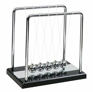 Newtons Cradle Balance Balls With Wooden Base Physics Science Classroom Puzzle X