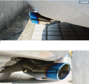 Blue Chrome Rear Exhaust Muffler End Tip Tail Pipe For Toyota Sienna 2011 2018