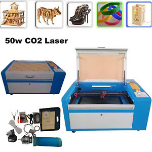 50w Engraving Cutting Co2 Laser Usb Machine Engraver Cutter Water Cooling
