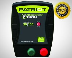 Patriot Pmx120 Electric Fence Energizer 1 2 Joule Ac Plug Durable Brand New