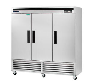 Maxx Cold 72cf Commercial Three 3 Door Upright Reach In Refrigerator Cooler Ss