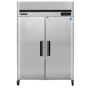 Maxx Cold 49cf Commercial Double 2 Two Door Upright Reach In Refrigerator Cooler