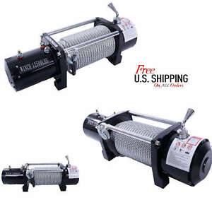 12500 Lbs Electric Recovery Winch 12v Truck Trailer Suv Wireless
