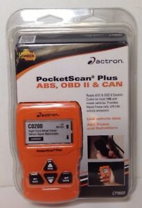 Actron Pocketscan Plus Scan Tool Cp9660 brand New