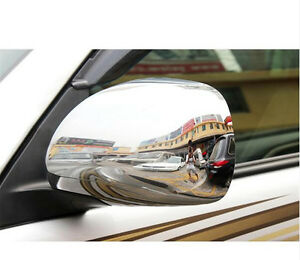 For Toyota Land Cruiser Prado Fj120 2003 2009 Chrome Side Door Mirror Cover Trim