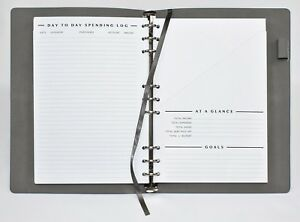 Clutterout Refillable Soft Cover Undated Monthly Finance Planner Free Shipping