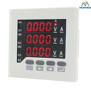 3uif63 72 72 Led Ac Ammeter And Voltmeter 3 Phase Digital Combined Meter