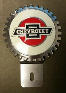 Chevrolet Accessory Grille Badge License Plate Topper A Great Gift Item New