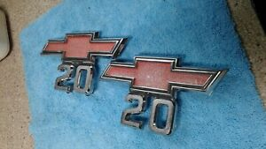 1960 s 1970 s Chevy Truck Parts C20 Emblems Badges Trim Original Oem Vintage