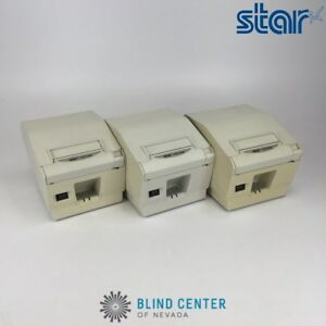 Lot Of 3 Star Tsp700ii Point Of Sale Thermal Printer W Cutter No Power Cable