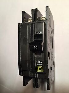 New Square D Qou250 2p 50a 120 240v Circuit Breaker