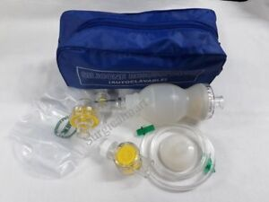 Ambu Bag Infant Silicon Manual Resuscitator Oxygen Tube Mask cpr First Aid Kit