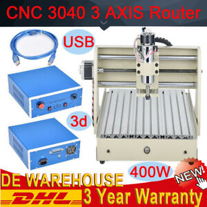 Usb 3 Axis Cnc 3040 Router 300w Engraver Milling Machine Carving Drilling Kit