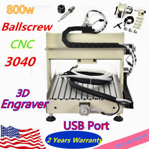 Usb Cnc Router 4 Axis Pcb Wood Carving Milling Engraving Machine 800w Engraver