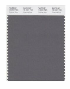 New Pantone Smart 18 0601x Color Swatch Card Charcoal Gray Free Shipping