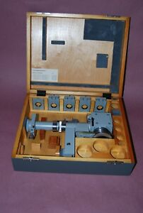 Carl Zeiss Aus Jena Reflected Polarizing Microscope Attachment Set In Case