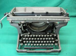 1927 Underwood Wide Carriage Typewriter Property Of General Electric Works