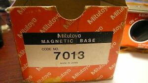 Mitutoyo Magnetic Dial Indicator Holder Base 7013