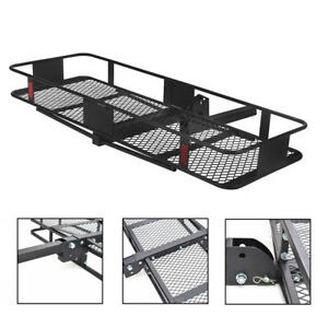 60 Folding Car Suv Truck Cargo Carrier Basket Luggage Hitch Mount 2 Receiver