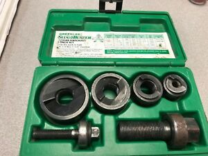 Greenlee 7235bb Slug buster 1 2 To 1 1 4 Knockout Punch Kit