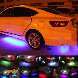 Mutli Color Led Strip Under Underglow Underbody System Car Tube Neon Lights Kit