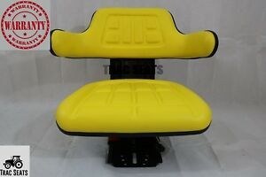 Yellow John Deere Tractor Trac Suspension Seat 1020 1530 2020 2030 2040 2155
