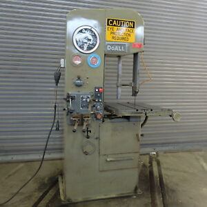 16 Doall Hi Column Vertical Band Saw Model 1624 3 Must See
