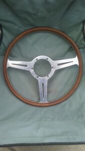 1960 s Les Leston Flat Wood Steering Wheel