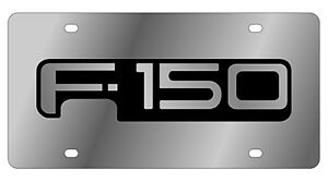 New Ford F 150 Mirror Word Logo Stainless Steel License Plate