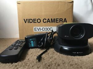 Sony Evi d30 C Camera With Remote Power Supply