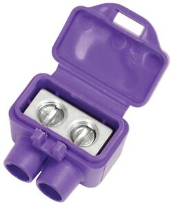 Electrical Tool Wire Connector Aluminum Double Port Silicone Sealant Purple