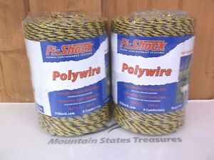 Fi shock Pw1320y6 fs Electric Fence Poly Wire 1320 X 2 pack New Free Ship