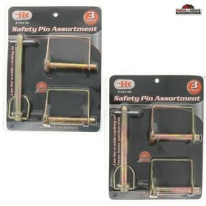 Safety Locking Pin Assortment Square Trailer Hitch Lock New