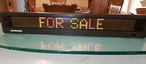 Beta Brite Electronic Led Color Message Display With Remote In Original Box